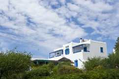 Traditional guest house in Koufonisia island Royalty Free Stock Photography