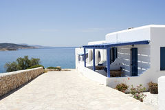 Traditional guest house in Koufonisia island. Greece Royalty Free Stock Images