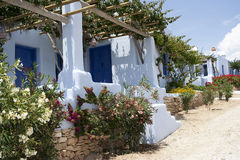 Traditional guest houses in Koufonisia island Royalty Free Stock Image