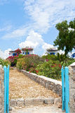 Traditional guest houses in Koufonisia island Royalty Free Stock Photos