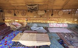 Traditional Guest Room in Farafra Village Caravanserai in Egypt Royalty Free Stock Photos