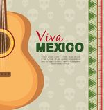 Traditional guitar instrument to celebrate event. Vector illustration royalty free illustration
