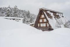 Traditional Gusso farmhouse at Shirakawa go village Stock Photos