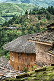 Traditional Hakka house details. View from a Traditional hakka earthen houses in china. classified as world unesco heritage, lnature landscape of the green Stock Image
