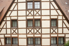 Traditional half timber house in Germany . Half timbered house in the historic town in germany.l Stock Image