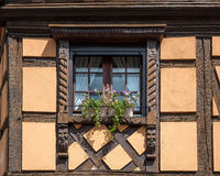 Traditional half-timbered architecture in Obernai, France Royalty Free Stock Photography