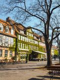 Traditional half-timbered buildings at the Ballhofplatz square in Hannover. Traditional half-timbered buildings at the Ballhofplatz square in the old town and stock photography