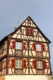 Traditional half-timbered house in Colmar, France Stock Photos