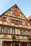Traditional Half Timbered House in Rothenburg ob der Tauber Royalty Free Stock Photography