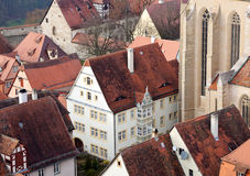 Traditional Half Timbered House in Rothenburg ob der Tauber Royalty Free Stock Photo