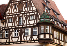 Traditional Half Timbered House in Rothenburg ob der Tauber Royalty Free Stock Photos