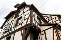 Traditional half-timbered houses in Alsace Stock Photography