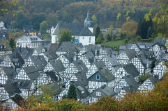 Traditional half-timbered houses in freudenberg, germany Royalty Free Stock Photography