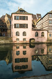Traditional half-timbered houses in La Petite France, Strasbourg Stock Photography
