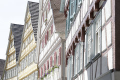 Traditional half-timbered houses. Located in Herrenberg, Black Forest, Baden-Wurtemberg, Germany Royalty Free Stock Photos