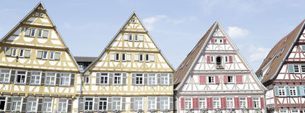 Traditional half-timbered houses. Located in Herrenberg, Black Forest, Baden-Wurtemberg, Germany Royalty Free Stock Images