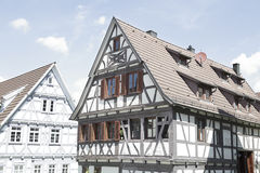 Traditional half-timbered houses. Located in Herrenberg, Black Forest, Baden-Wurtemberg, Germany Royalty Free Stock Photography