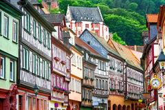 Traditional half-timbered houses in Miltenberg near Frankfurt, G Stock Photography