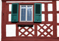 Traditional Half-Timbered Houses in Munsterschwarzach Royalty Free Stock Photos