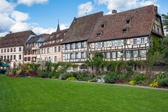 Traditional half-timbered houses in Wissembourg Stock Images