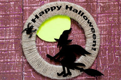 Traditional Halloween character - a witch Royalty Free Stock Images