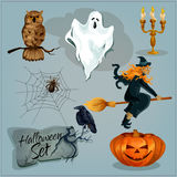 Traditional Halloween characters Stock Images