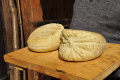 Traditional hand made cheese: smoked ricotta Royalty Free Stock Image