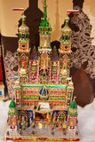 Traditional Hand Made Christmas Nativities, Krakow, Poland Royalty Free Stock Image