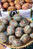 Traditional hand painted Easter eggs Royalty Free Stock Images