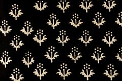 Traditional hand printed Indian fabric Stock Image