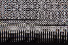 Traditional hand-woven fabrics in Thai style Stock Photo