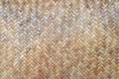 Traditional handcraft weave Thai style pattern nature background. Texture wicker surface for furniture material Royalty Free Stock Images