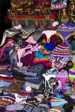 Traditional handcrafted goods on the market in Copacabana, Boliv Royalty Free Stock Photos