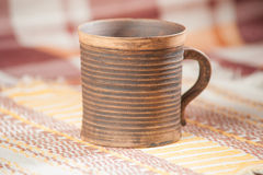 Traditional handcrafted mug Royalty Free Stock Images