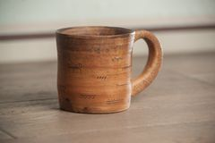 Traditional handcrafted mug Stock Photo
