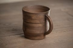 Traditional handcrafted mug Royalty Free Stock Photography