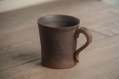 Traditional handcrafted mug Royalty Free Stock Photo