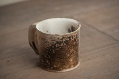 Traditional handcrafted mug Royalty Free Stock Image