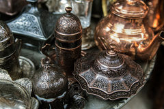 Traditional handcrafted souvenirs in Sarajevo Royalty Free Stock Photos