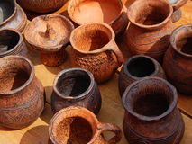 Traditional handicraft at the international festival  Times and epochs. Ancient Rome Stock Photography