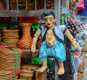 Traditional handicraft puppets in Myanmar Royalty Free Stock Photography