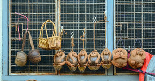 Traditional handicraft puppets in Myanmar Stock Photography
