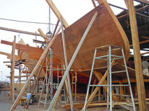 Traditional handiwork shipbuilding Royalty Free Stock Photography