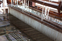 Traditional handloom in a small textile factory Royalty Free Stock Photography