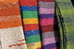 Traditional handmade carpets Stock Photos
