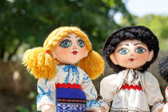 Traditional handmade dolls - newlywed couple Royalty Free Stock Photography