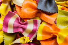 Traditional handmade italian farfalle pastas Royalty Free Stock Images