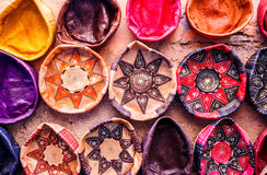 Traditional handmade leather souvenirs Stock Image