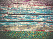 Traditional Handmade old colored carpet, striped pattern Royalty Free Stock Images