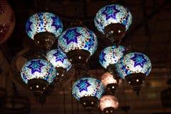 Traditional handmade oriental lamps Stock Photo